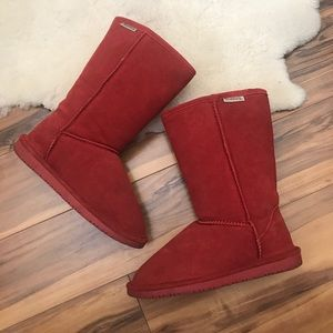 Bearpaw Womens Winter Boots Red Size 6